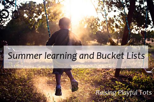 Summer learning, summer bucket lists