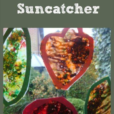 31 Days Of Sensory Play {Day Twenty Two} How to make a leaf suncatcher