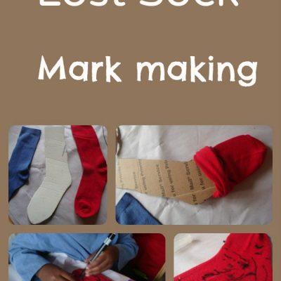 31 Days Of Sensory Play {Day Sixteen} Mark Making On Socks