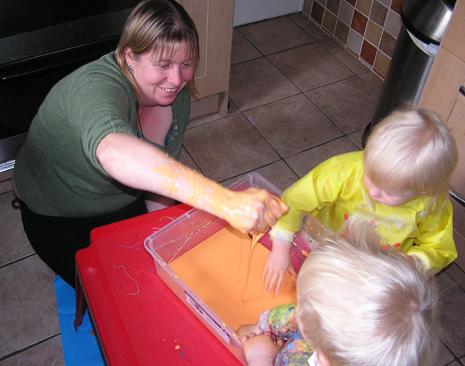 language development through sensory play