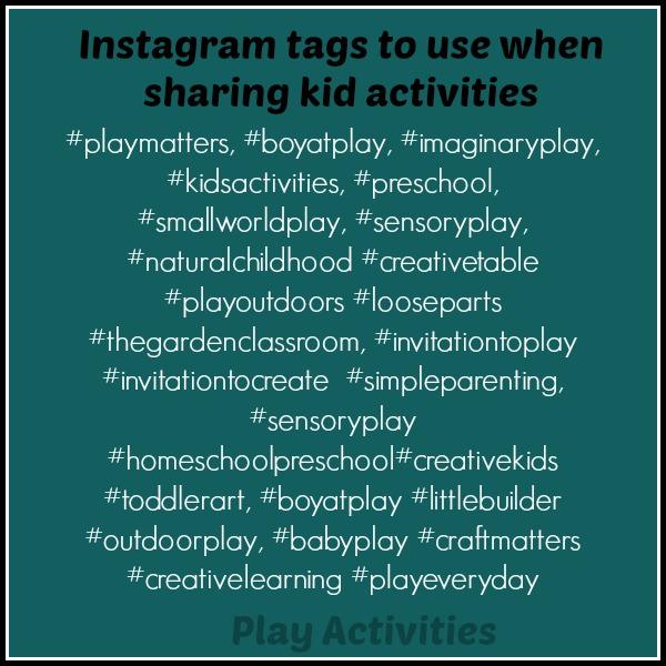 instagram tags kid activities