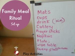 family meal ritual setup