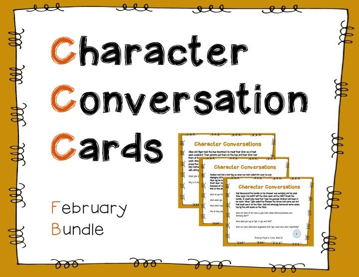 Character Conversation Cards orange bundle