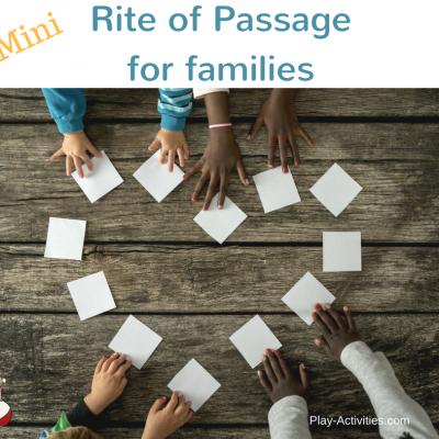 Mini Rite of Passage for school aged children