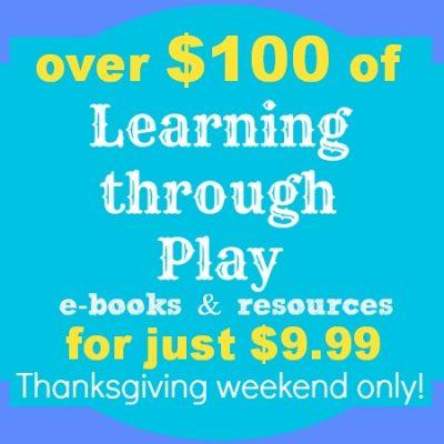 Coming soon! Best Thanksgiving weekend sale- Learning through play ebook bundle